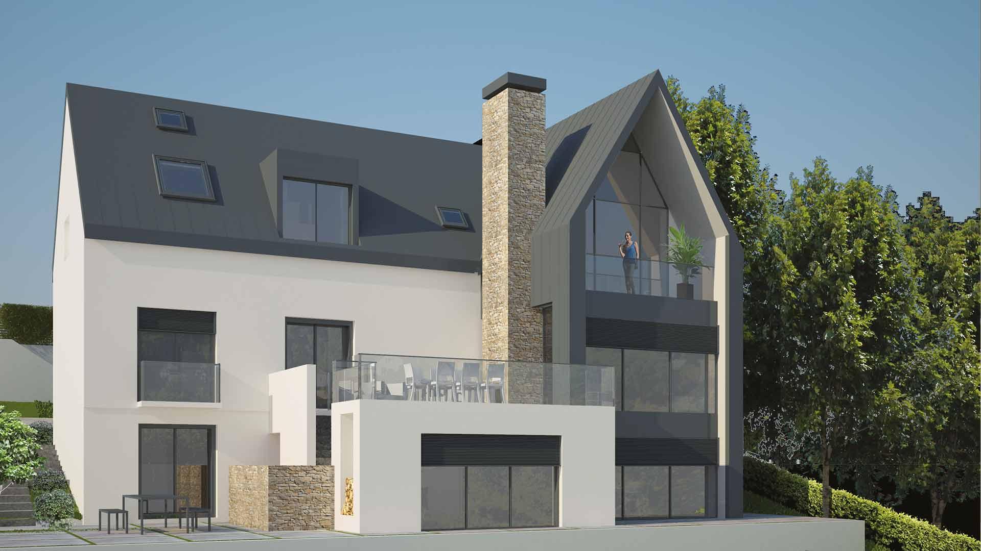 port marly extension maison individuelle bear architectes jeremy biermann. Black Bedroom Furniture Sets. Home Design Ideas